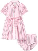Polo Ralph Lauren Striped Dress Bloomer (Infant) (Baja Pink/White) Girl's Clothing