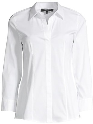 Lafayette 148 New York Katherine Side Zip Shirt