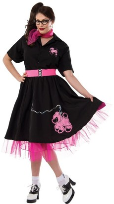 Rubie's Costume Co Women's Plus-Size 50's Black Poodle Skirt