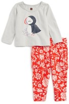 Tea Collection Infant Girl's Puffin Graphic Top & Print Leggings Set