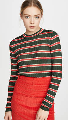 Scotch & Soda Striped Rib Knit Sweater