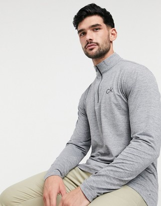Calvin Klein Golf Newport half zip top in grey