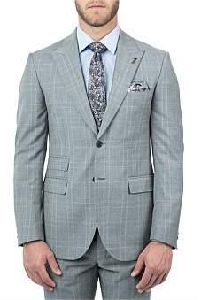 Joe Black Wool Peak Lapel Full Canvas Suit Jacket