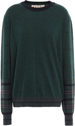 Marni Striped Cashmere And Wool-blend Sweater