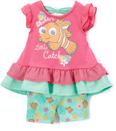 Children's Apparel Network Finding Nemo Pink Flutter-Sleeve Dress & Shorts - Infant