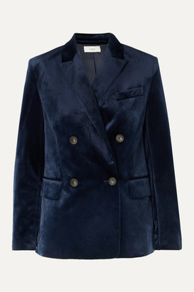Vince Double-breasted Velvet Blazer - Navy
