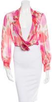 Chanel Silk Crop Top