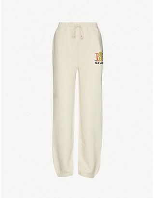 Stussy 1st High-Rise Cotton-Blend Jersey Jogging Bottoms
