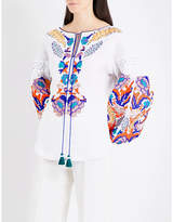 Yuliya Magdych Harvest embroidered linen blouse