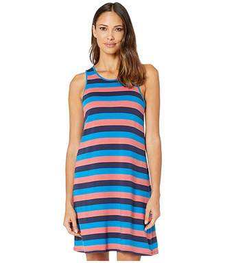 Hatley Bella Dress - Blue and Coral Stripes