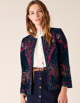 Under Armour Embroidered Velvet Jacket Teal