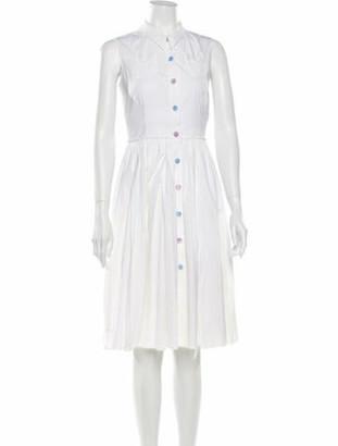 Prada Midi Length Dress White