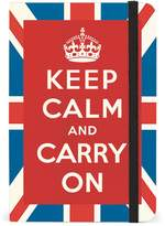 Cavallini & Co. Keep Calm and Carry on Small Lined Notebook