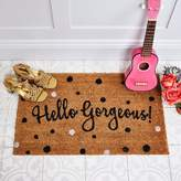 Graham and Green Hello Gorgeous Spotty Doormat