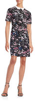 Ivanka Trump Floral-Print Short-Sleeve Shift Dress