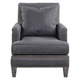 The Well Appointed House Charcoal Gray Arm Chair