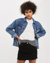 Topshop MOTO Denim Mini Skirt