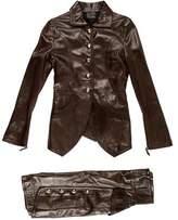 Fendi Leather Skirt Suit