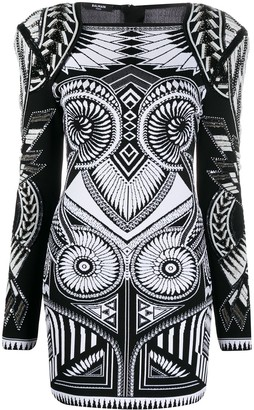 Balmain Bead-Embellished Structured Dress