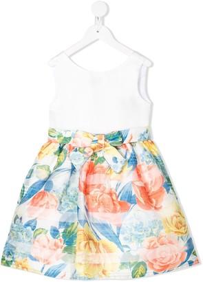 Lula Abel & striped floral print midi dress