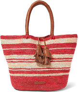 Polo Ralph Lauren Striped Woven Raffia Tote