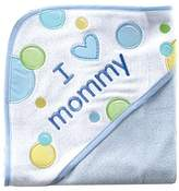 Luvable Friends I Love Applique Hooded Towel, New, -Mommy