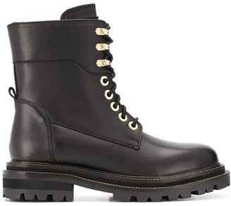 Twin-Set Lace-Up Ankle Boots