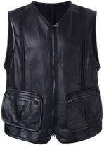 Isabel Benenato leather vest
