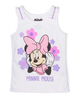 Freeze White Minnie Mouse Ruffle Tank - Toddler