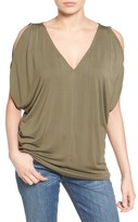 Halogen Cold Shoulder Top (Regular & Petite)