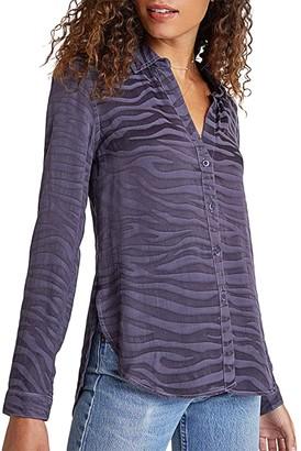 Bella Dahl Long Sleeve Button Down Shirt (Graphite) Women's Clothing