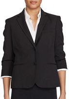 Lauren Ralph Lauren Front-Button Three-Quarter Sleeve Blazer