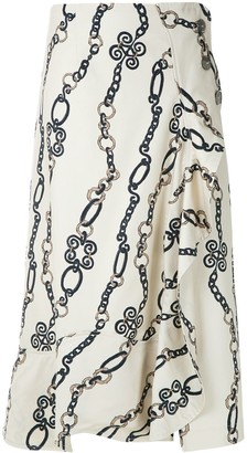 Framed Chain midi skirt