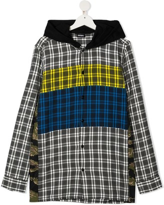 Diesel Checked Hooded Shirt