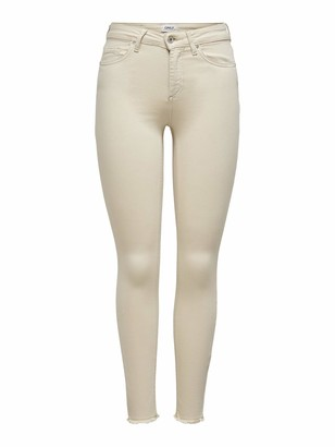 Only Women's ONLBLUSH MID SK ANKRAW COL Life PNT NOOS Jeans