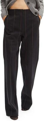Pinstripe High Waist Pants
