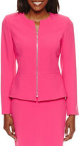 CHELSEA ROSE Chelsea Rose Long Sleeve Zip Front Suit Jacket