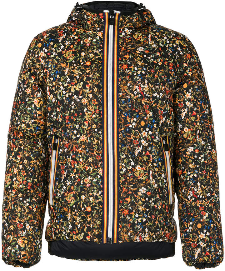 DSQUARED2 x K-Way padded micro floral jacket