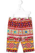 Dolce & Gabbana Caretto Con Rose printed trousers - kids - Cotton - 6-9 mth