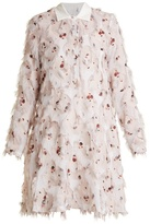 See by Chloe Point-collar floral-print fil coupé dress