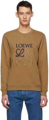 Loewe Brown Cotton Anagram Embroidered Sweatshirt
