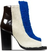 Opening Ceremony Cobalt Multi Elise Open Toe Booties