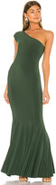 Norma Kamali One Shoulder Fishtail Gown