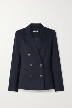 Jason Wu Double-breasted Satin-trimmed Twill Blazer - Navy