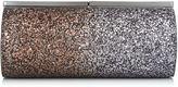 Jimmy Choo TRINKET Bronze and Anthracite Coarse Glitter Dégradé Clutch Bag