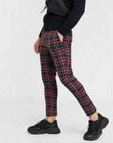 Asos Design DESIGN super skinny smart trousers in black check