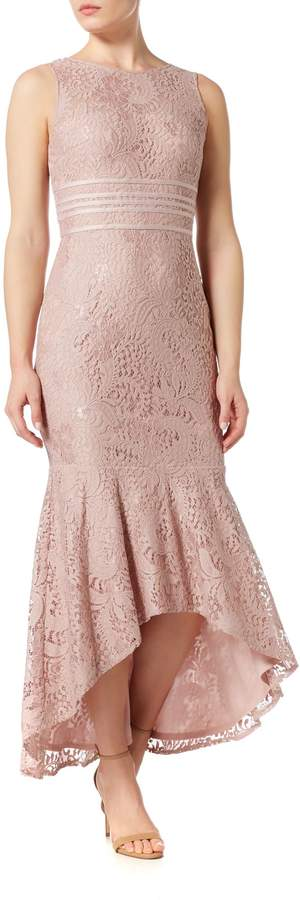 JS Collections Midi lace dress with banding