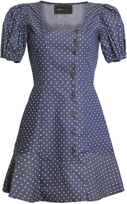 BCBGMAXAZRIA Polka Dot Puff Sleeve Dress