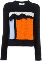 MSGM ruffled knit sweater