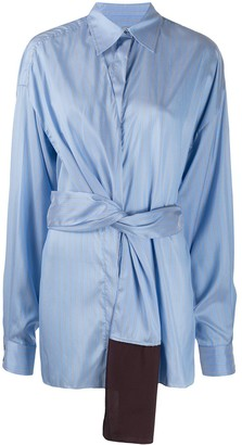 Litkovskaya Tie-Fastening Silk Shirt